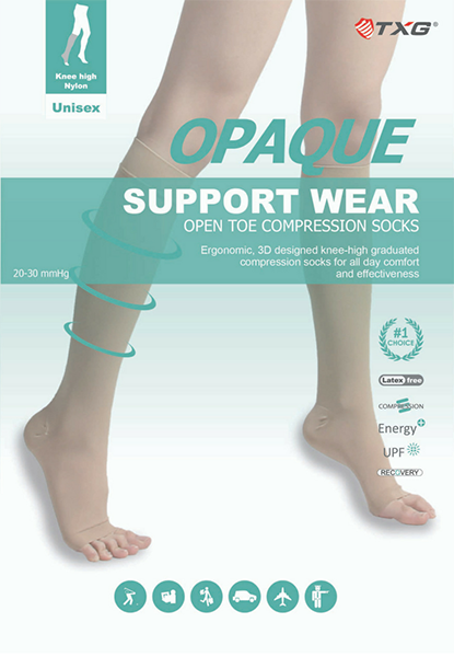 c3299059d8 TXG's Opaque Open Toe Compression Stockings (sometimes called Open Toe  Compression Socks) are perfect for both women and men if your feet get hot,  ...